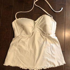 White tankini top